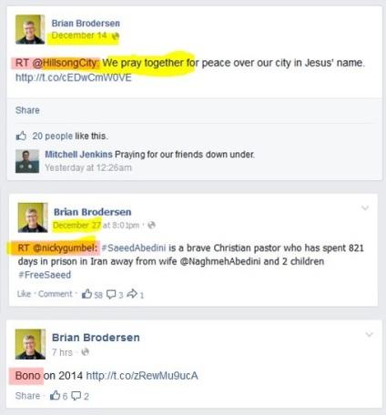 B.Brodersen retweets Hillsong, Nickey Gumbel & Bobo