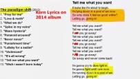Korn Lyrics1